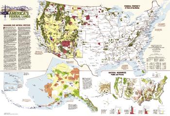 United States Federal Lands  -  Published 1982