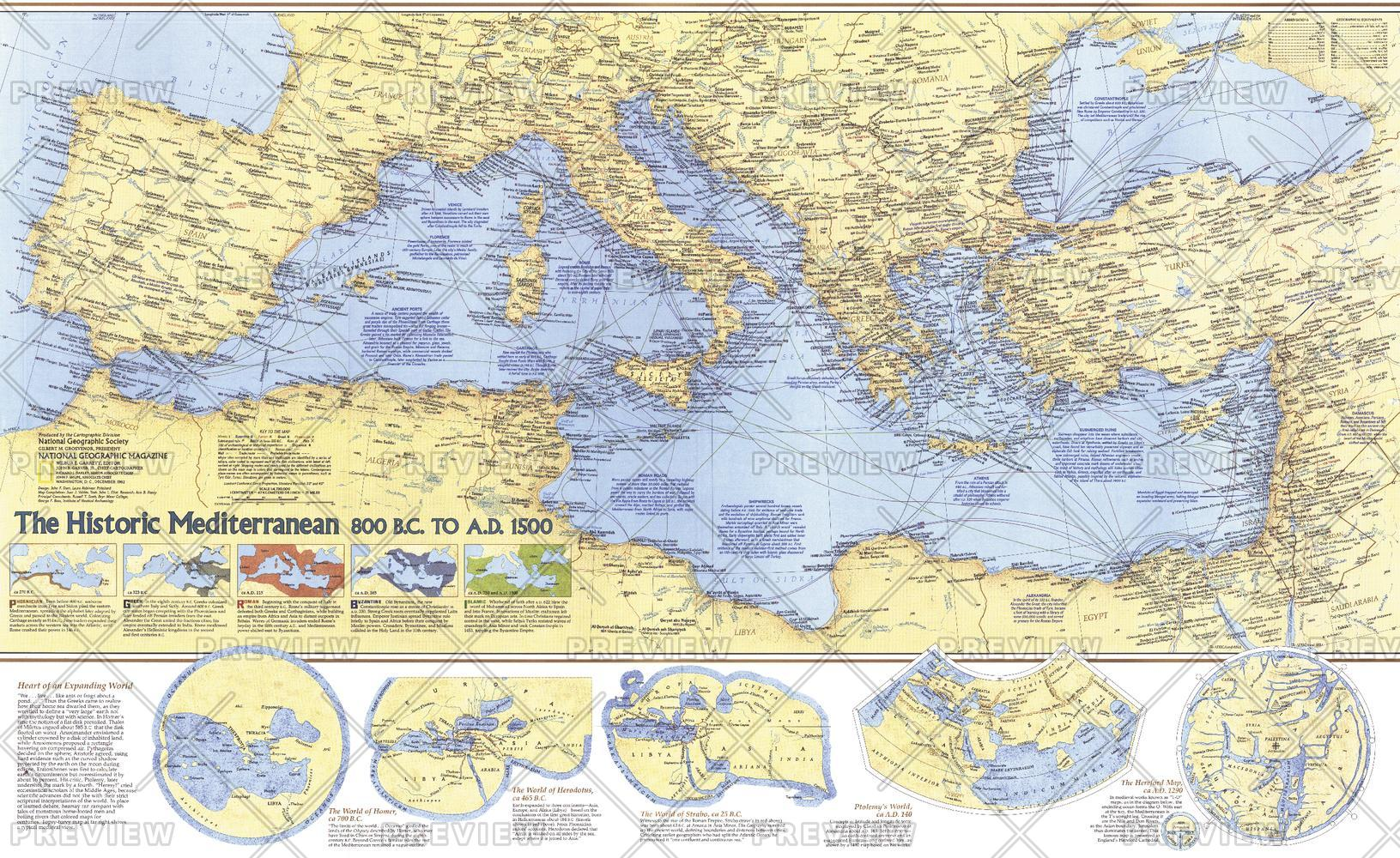 Historic Mediterranean, 800 BC to AD 1500  -  Published 1982