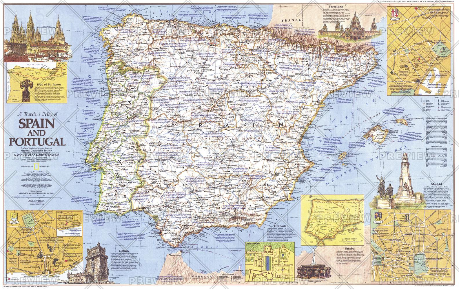 Travelers   of Spain and Portugal - Published 1984