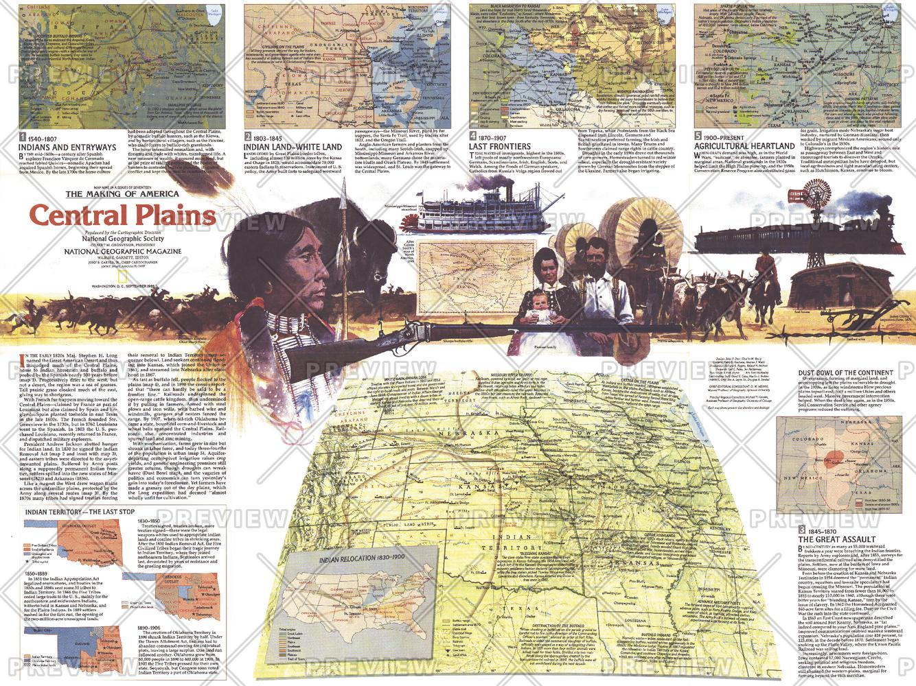 Central Plains Map Side 2 - Published 1985