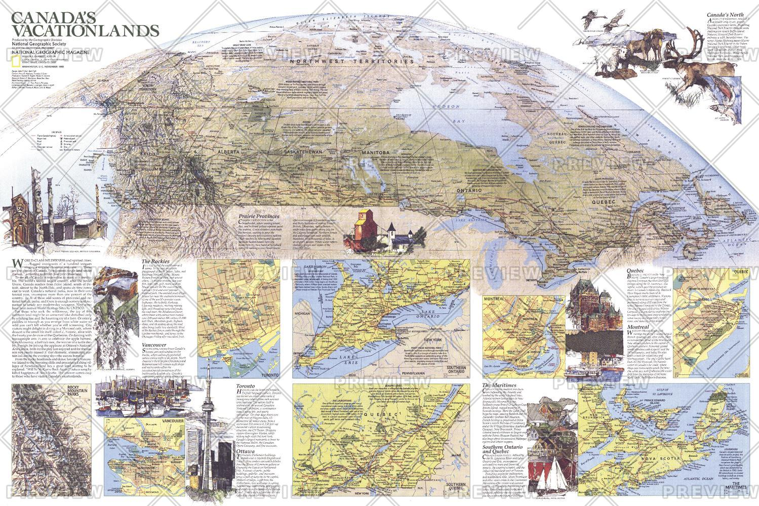 Canada Vacationlands  -  Published 1985
