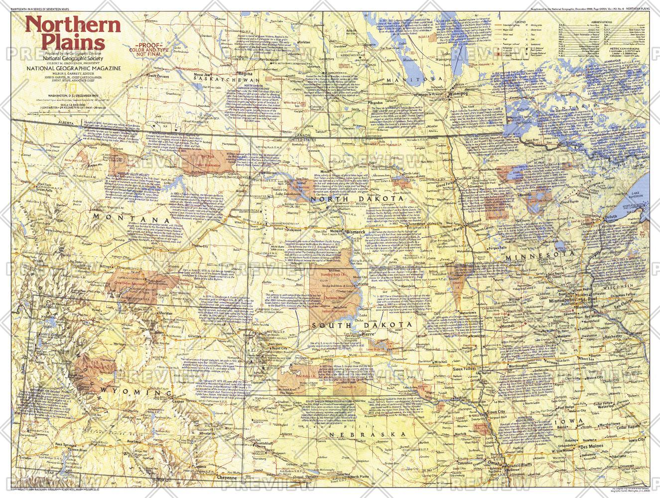Northern Plains Map Side 1 - Published 1986