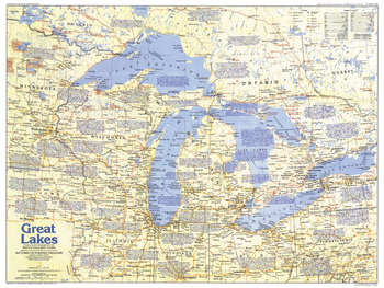 Great Lakes Map Side 1 - Published 1987