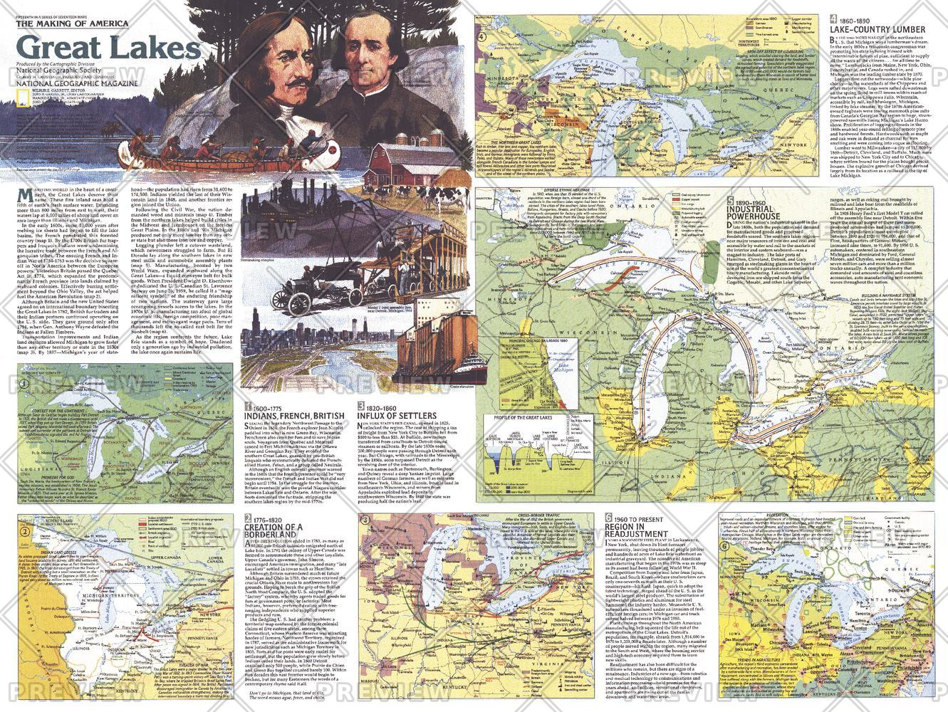 Great Lakes Map Side 2 - Published 1987