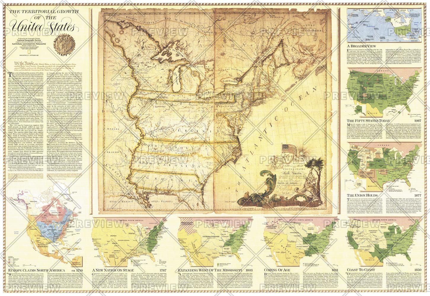 Territorial Growth of the United States  -  Published 1987