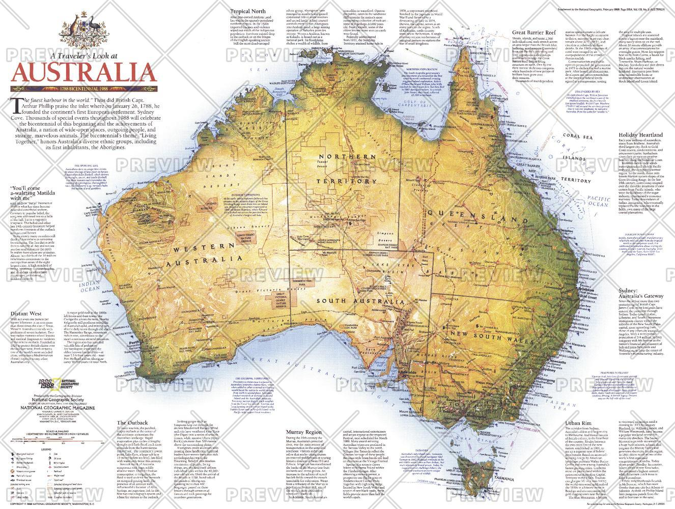 Travelers Look At Australia  -  Published 1988