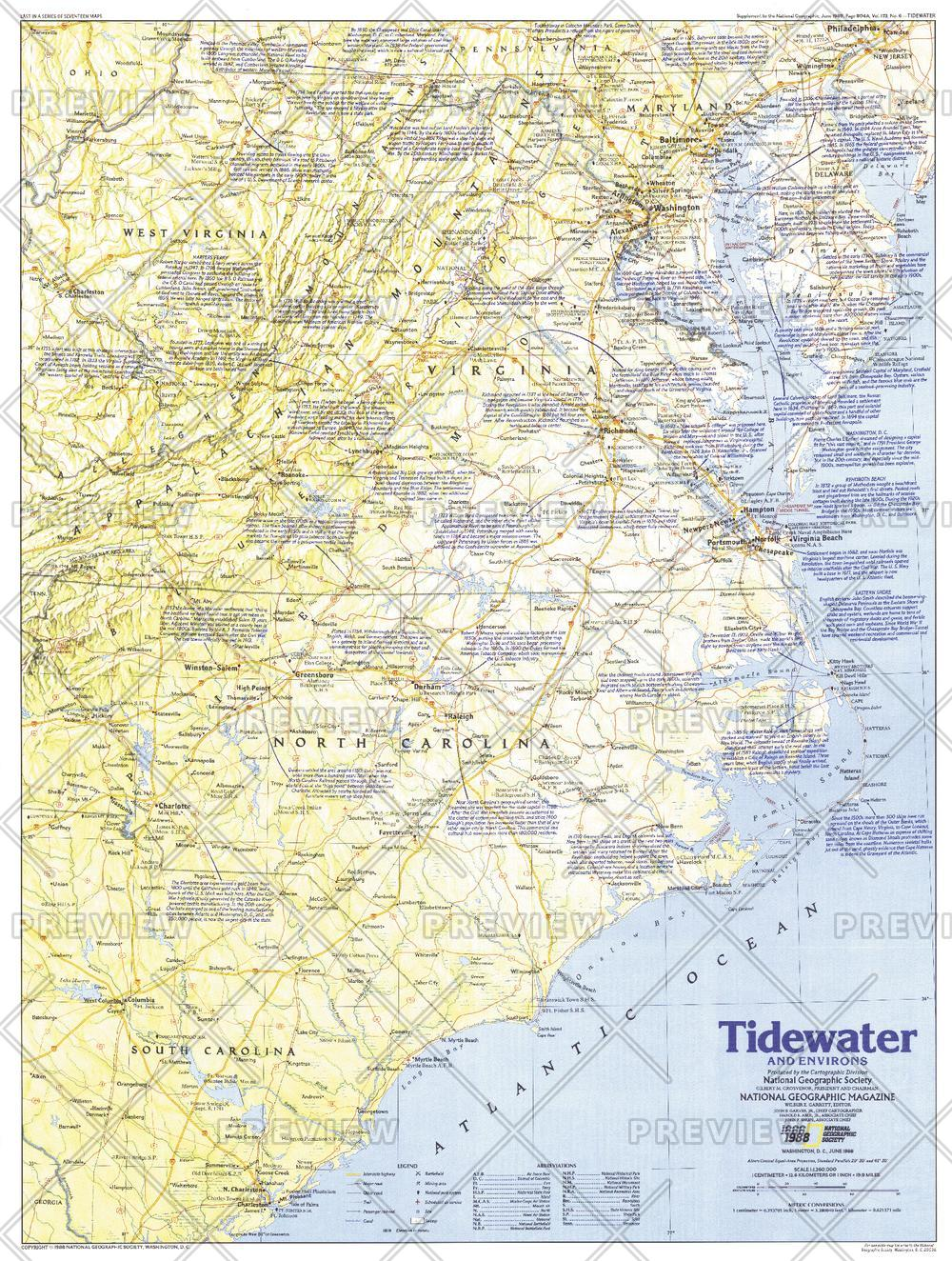 Tidewater and Environs  -  Published 1988
