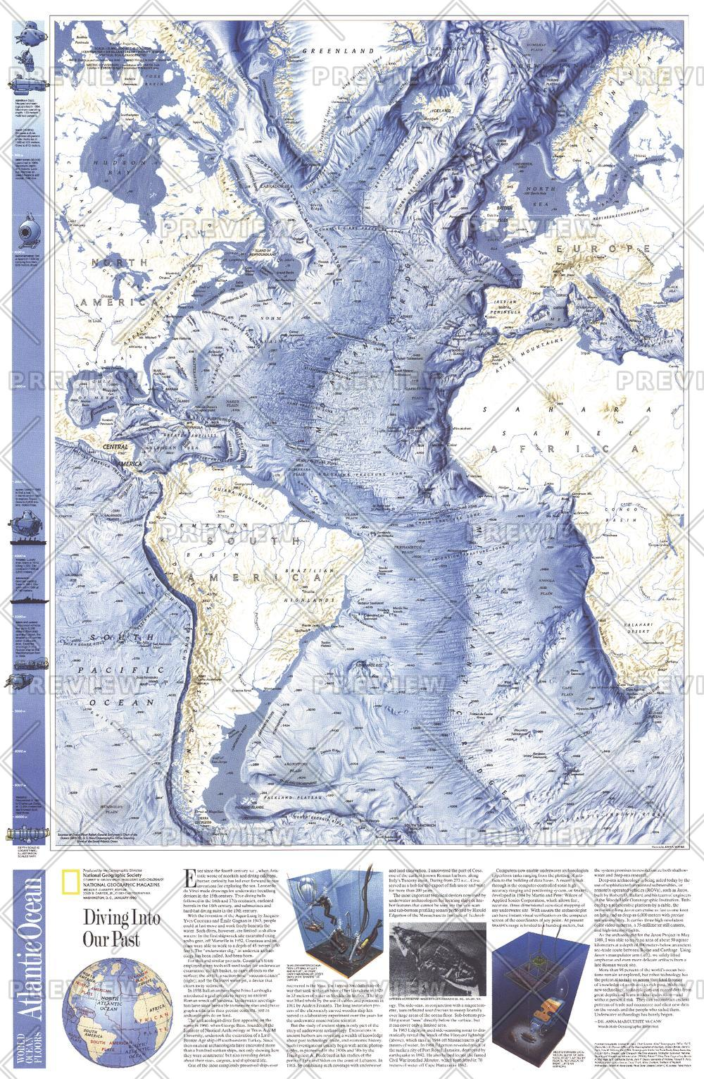 World Ocean Floors, Atlantic Ocean  -  Published 1990