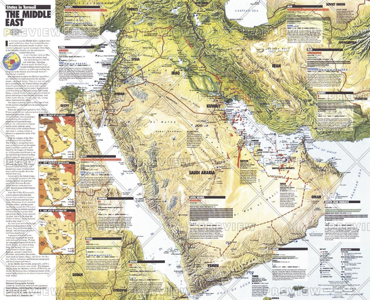 Middle East, States in Turmoil  -  Published 1991