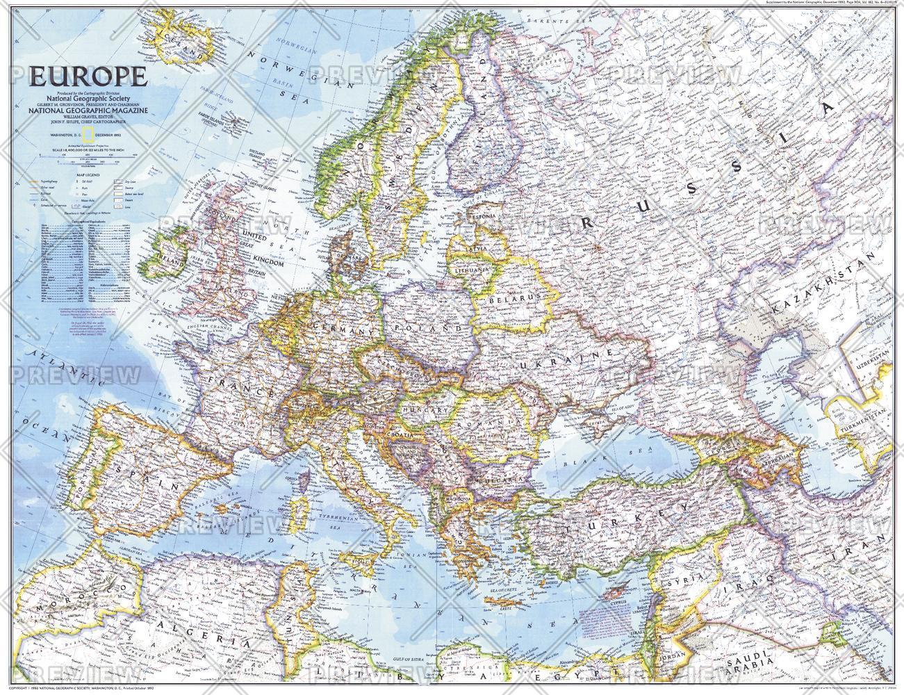 Europe - Published 1992