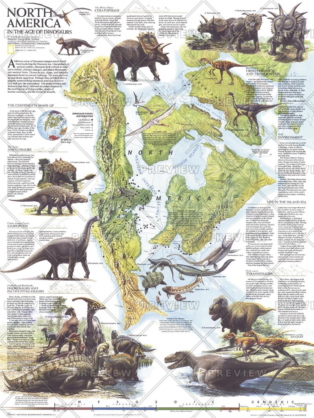 North America in the Age of the Dinosaurs  -  Published 1993