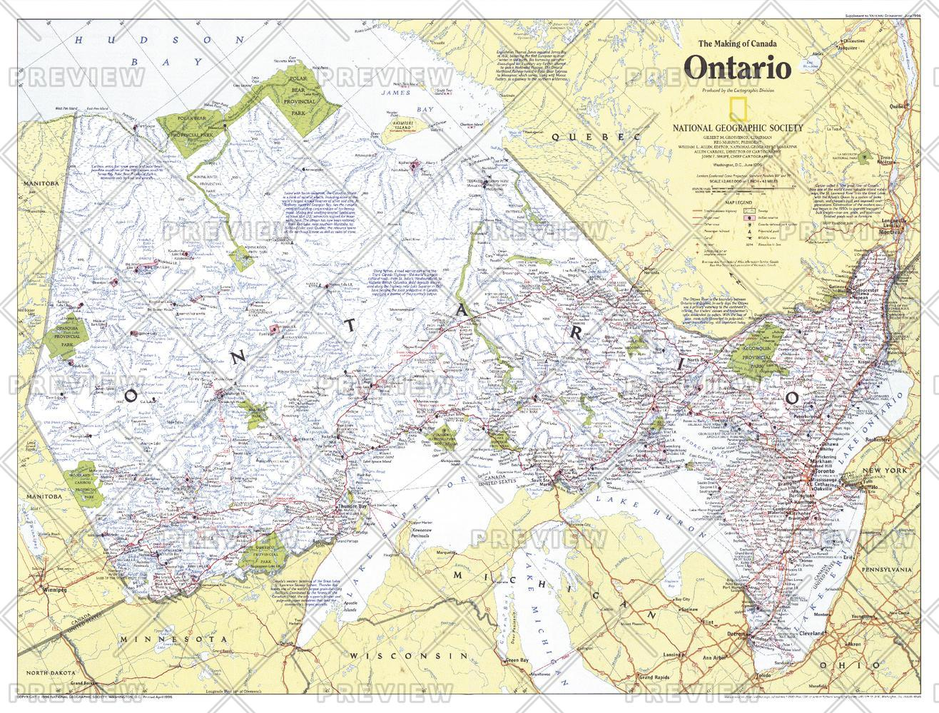 Making of Canada, Ontario  -  Published 1996