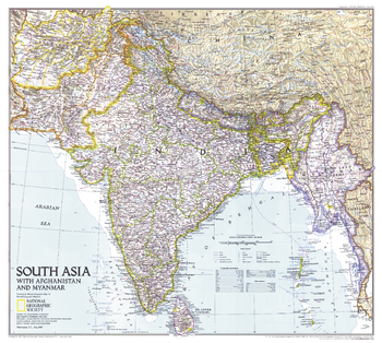 South Asia with Afghanistan and Myanmar  -  Published 1997
