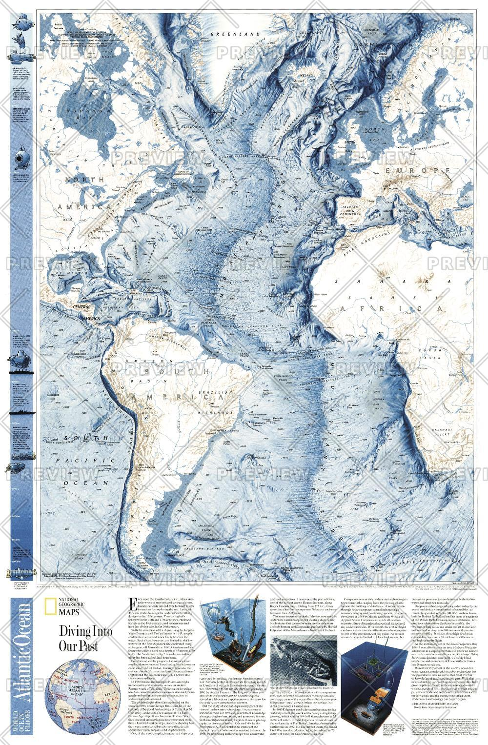 World Ocean Floor, Atlantic  -  Published 2001