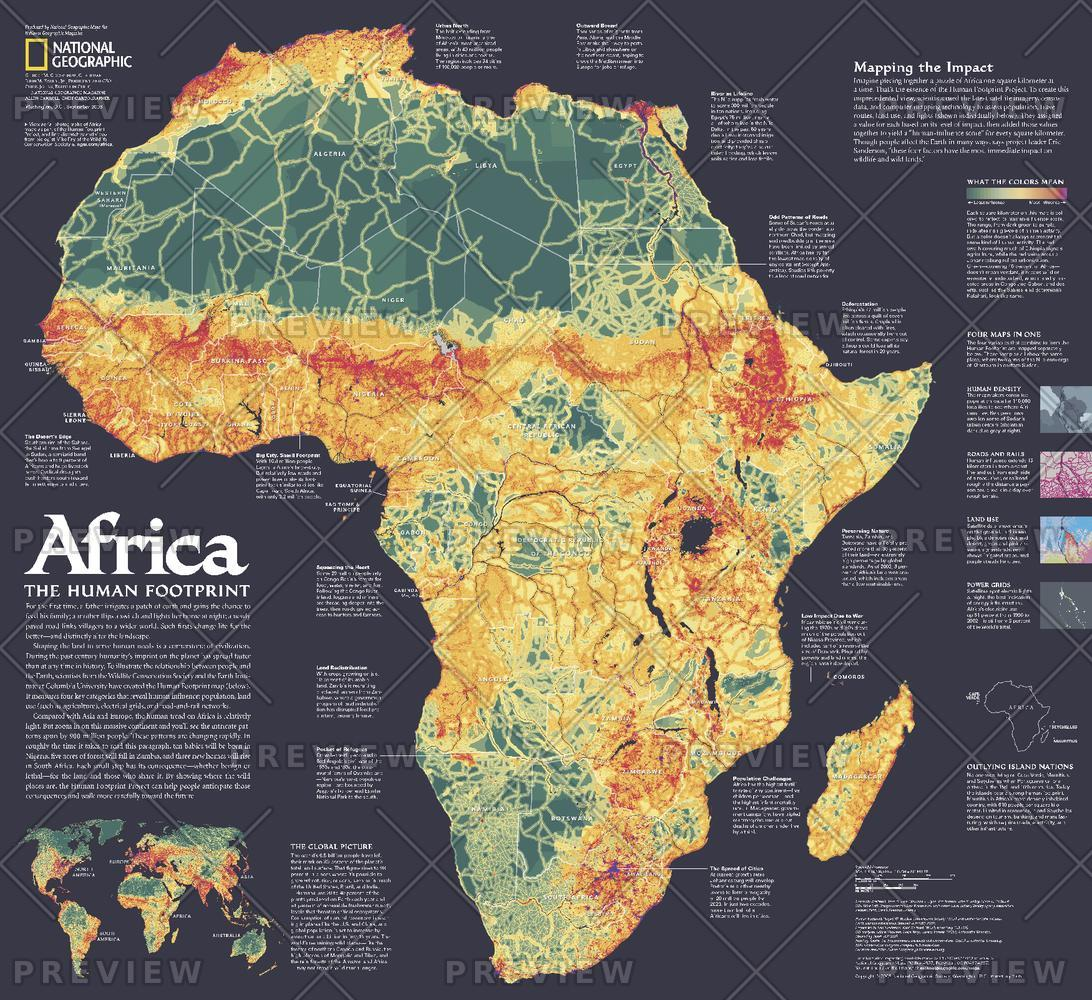 Africa, the Human Footprint  -  Published 2005