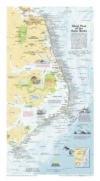 Ghost Fleet of the Outer Banks 1970 Map - Published 2008