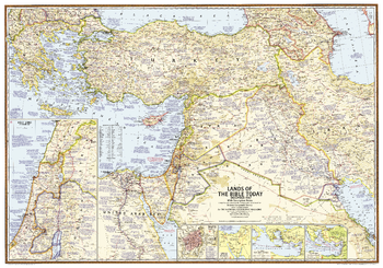 Lands of the Bible 1967 Map - Published 2012