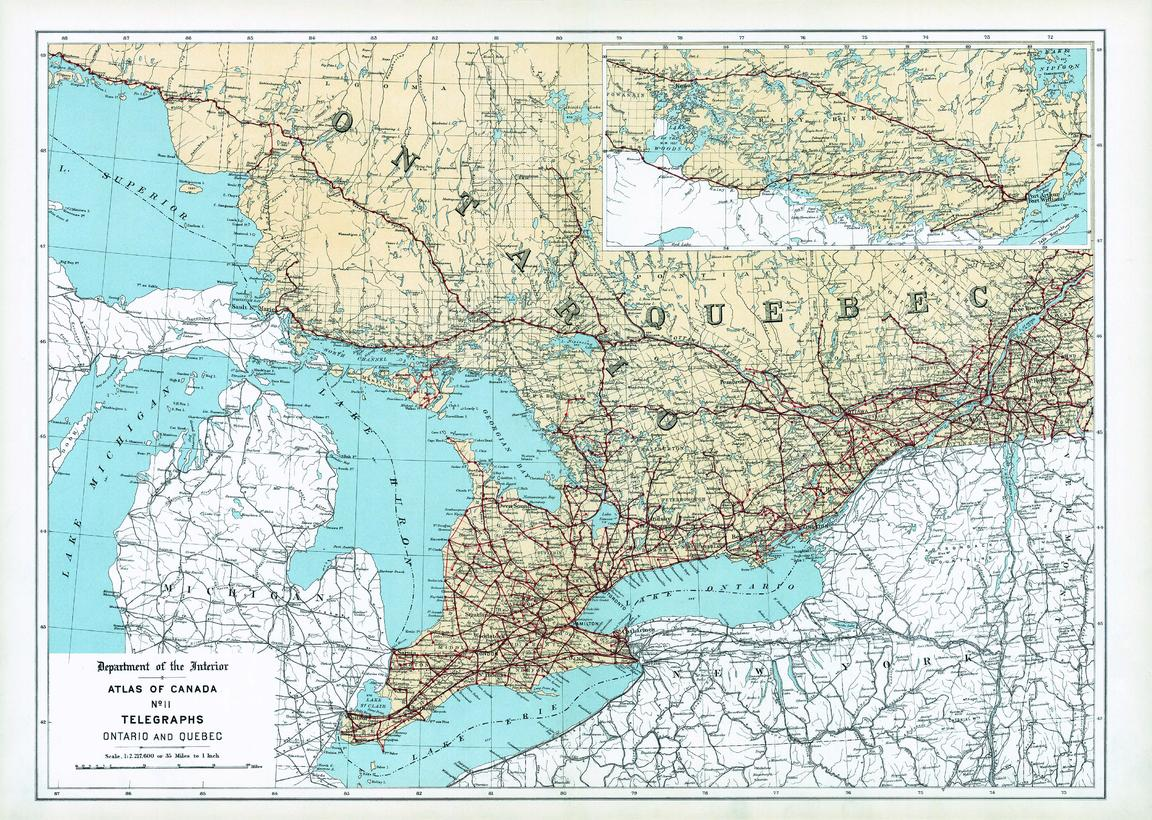Mapsherpa natural resources canada atlas of canada maps sample map telegraphs quebec and maritime provinces atlas gumiabroncs Image collections