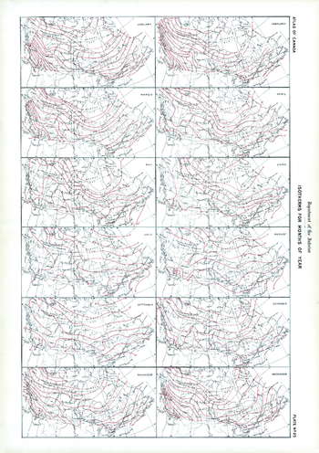 Isotherms for Months of Year (1906)