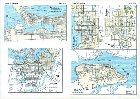 Vancouver, Ottawa, Hamilton, London, Halifax (1906)