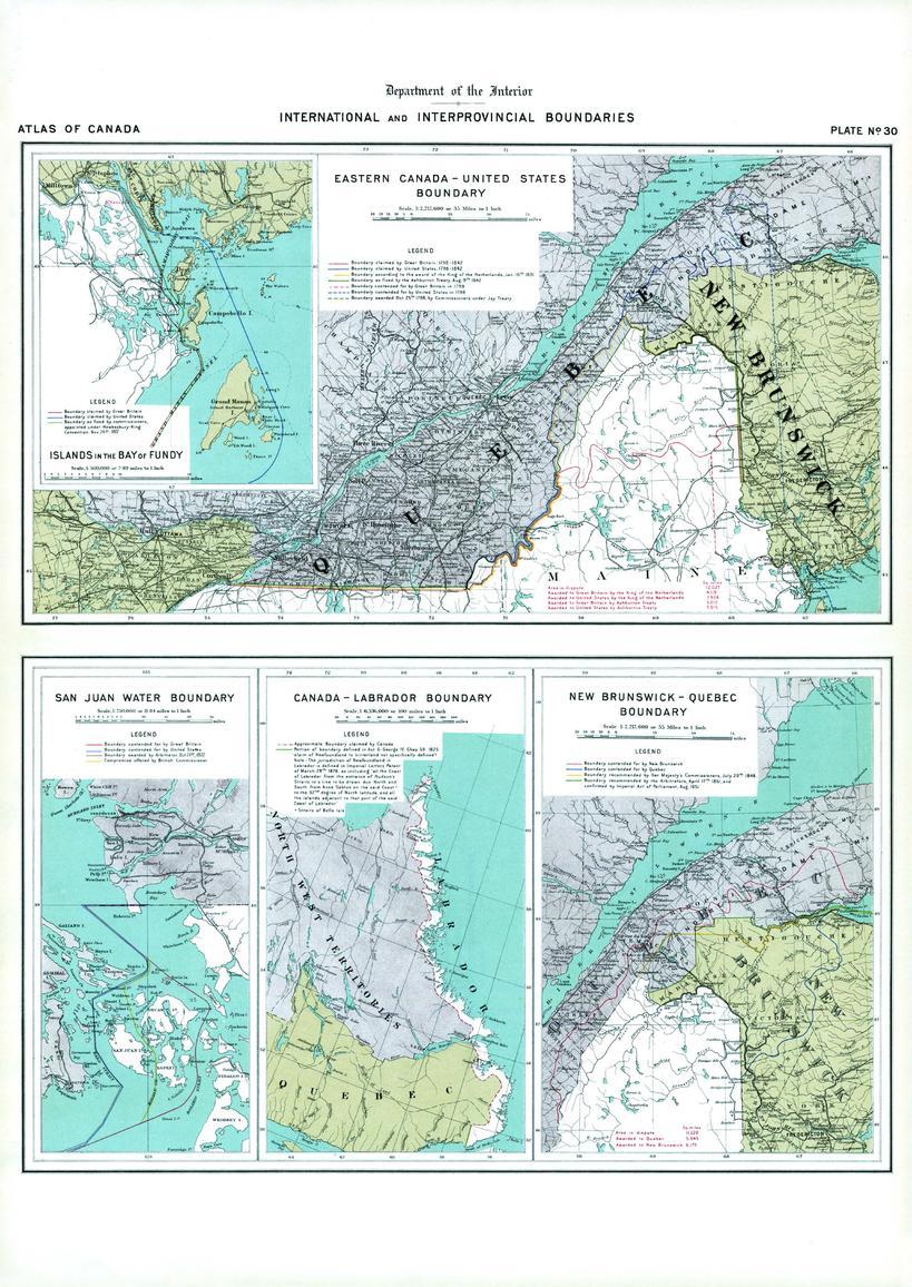 Boundaries of Eastern Canada; San Juan Water Boundary (1906)