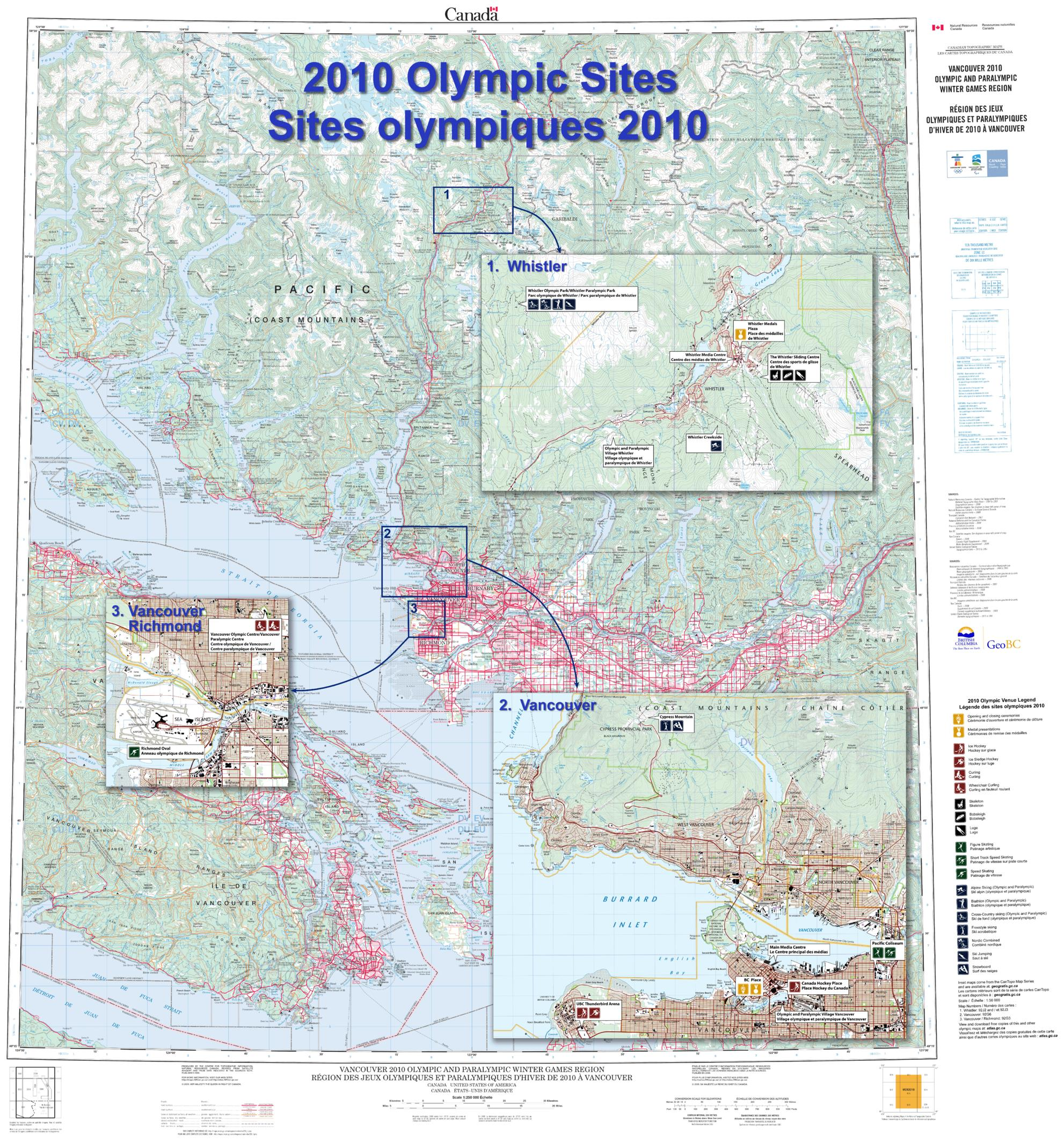 2010 Olympic sites / Sites olympiques 2010