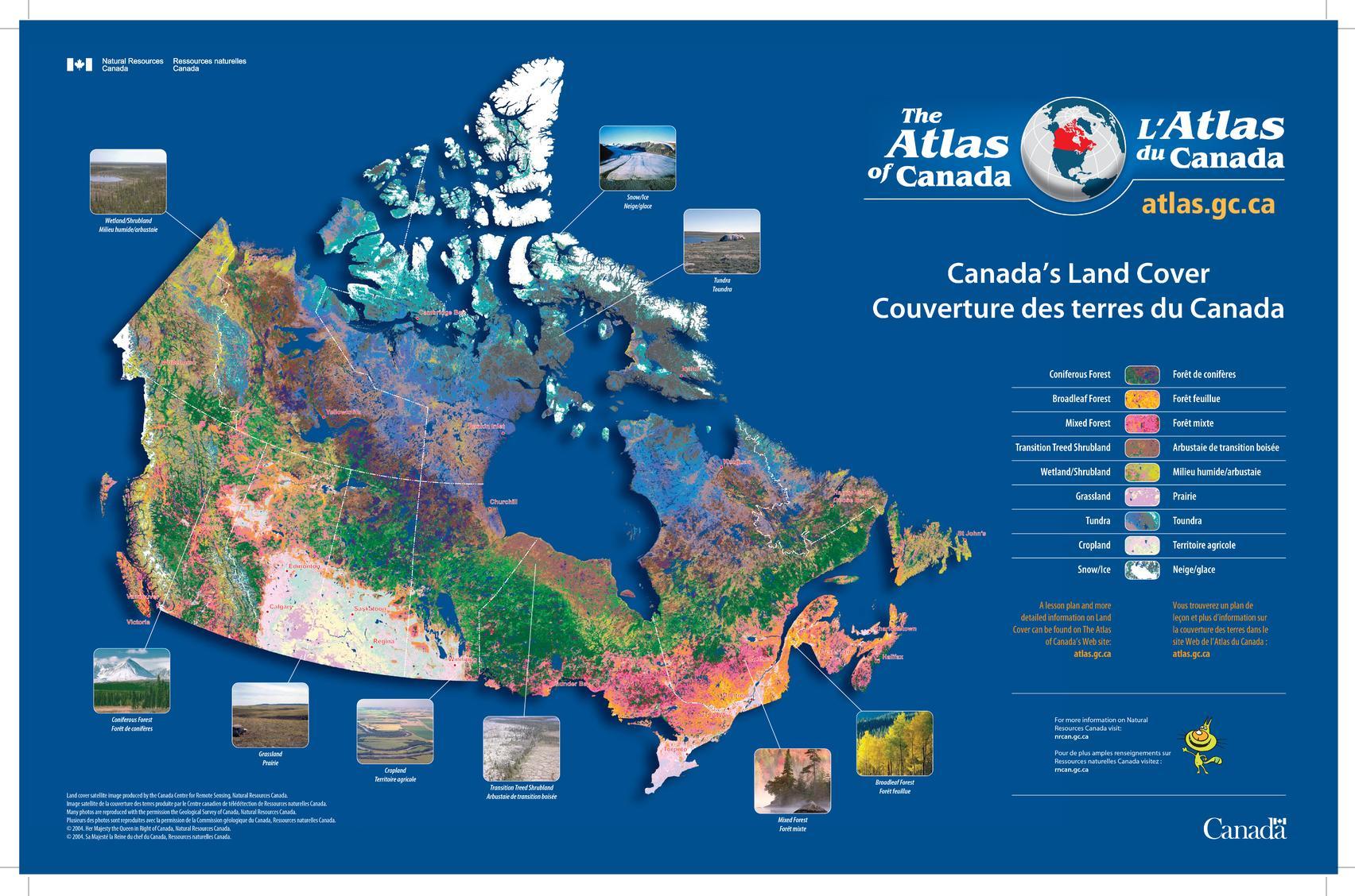 Canada's Land Cover / Couverture des terres du Canada