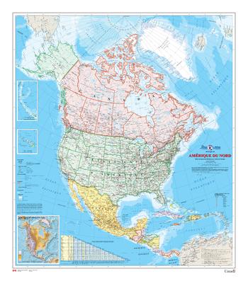 Amérique du Nord - Carte Murale - L'Atlas du Canada