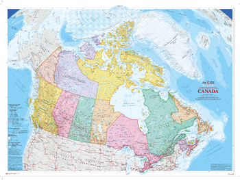 Canada Wall Map (2009) - Bilingual - Atlas of Canada