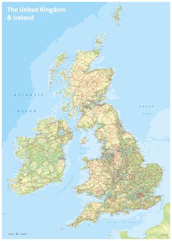 UK & Ireland Topographic