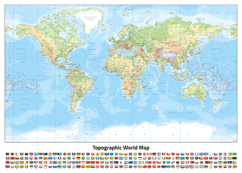 World Topographic (Miller projection)