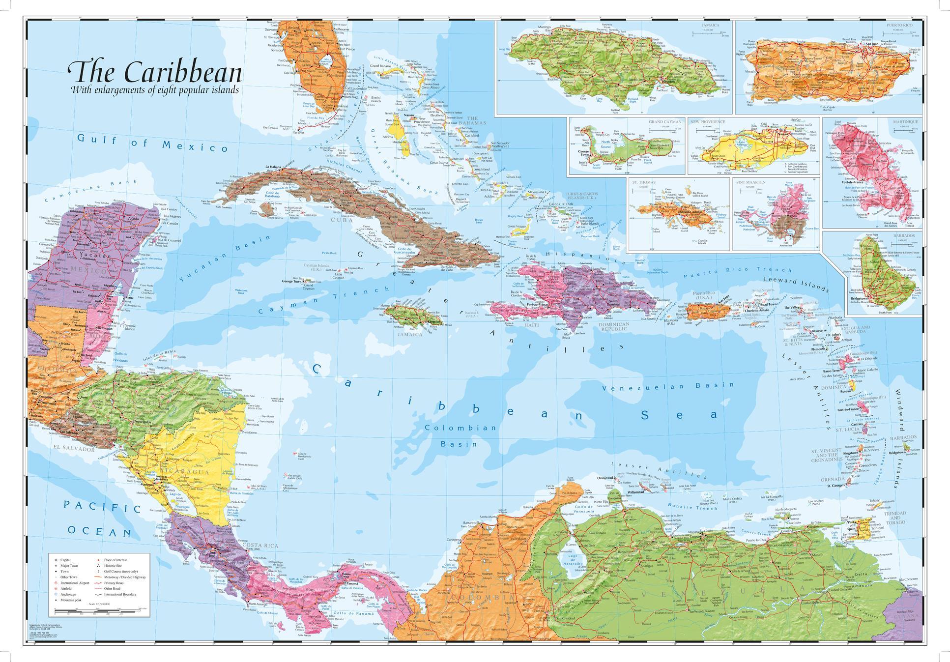 Caribbean and main islands