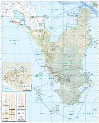 Wilsons Promontory, Victoria Topographic Map