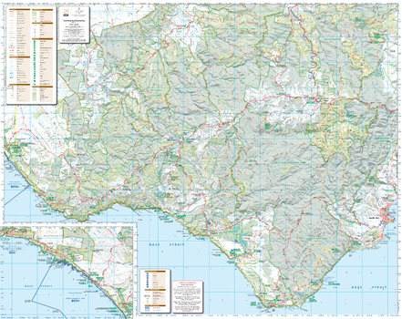 Otways West: Shipwreck Coast, Victoria Topographic Map