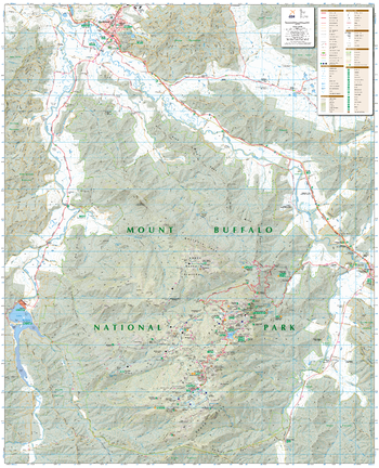 Mount Buffalo, Victoria Topographic Map
