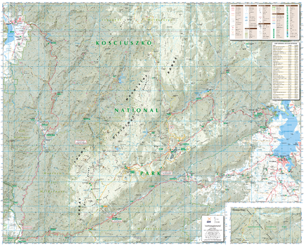 Kosciuszko Alpine Area, New South Wales Topographic Map