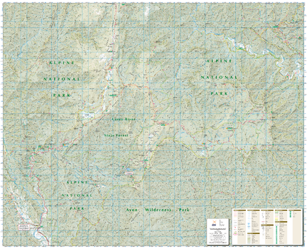 Tali Karng - Moroka, Victoria Topographic Map