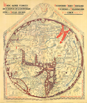 Stanford's Facsimile of the Hereford Mappa Mundi (1869) - Resized to 2A0 width