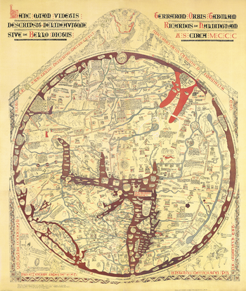 Stanford's Facsimile of the Hereford Mappa Mundi (1869)