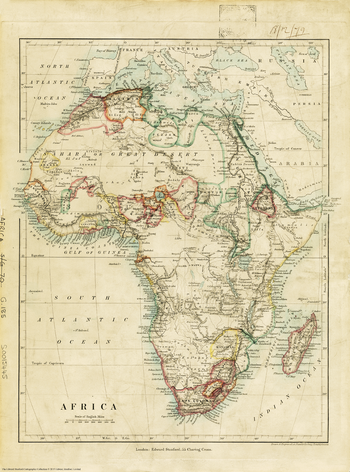 Stanford's Africa Map (1879)