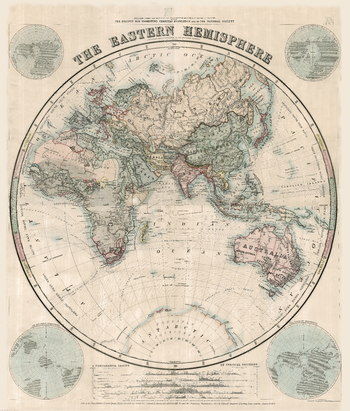 Stanford's Eastern Hemisphere Map (1877)