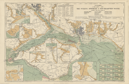 Stanford's Chart of the Solent, Spithead and Southampton Water (1932)