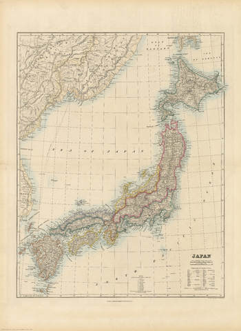 Stanford's Folio Japan Map (1884)