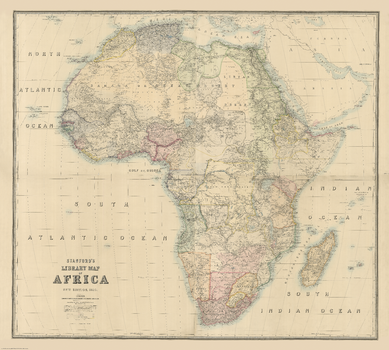 Stanford's Library Map of Africa (1890)