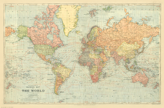 Stanford's General Map of the World on Mercator's Projection (1922)