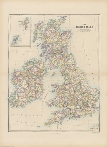 Stanford's Folio British Isles Map (1884)