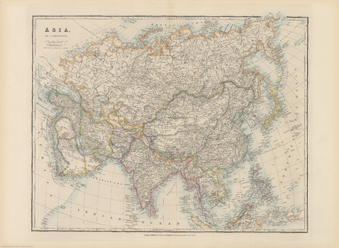 Stanford's Folio Asia Map, by J. Arrowsmith (1884)