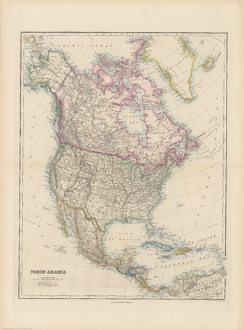 Stanford's Folio North America Map (1884)