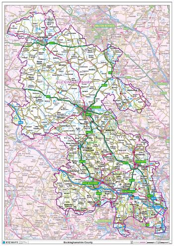 Buckinghamshire County Map