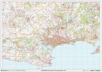 Bournemouth - BH - Postcode Wall Map